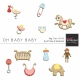Oh Baby Baby Blog Train- Wood Ornaments Kit