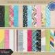Raindrops & Rainbows- Paper Kit