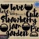 Strawberry Fields- Word Art Template Kit