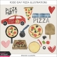 Food Day Pizza Illustrations Kit