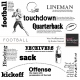 Football Word Art And Illustrations Templates Kit