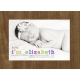 Sweet baby Elizabeth- Birth Announcement Postcard