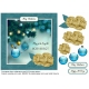 Christmas tree baubles card front