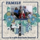 FAMILY is a gift that lasts forever! (Thrifty Scraps
