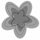 Layered Doodle Flower Template