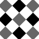 Gingham 3 Inch Squares- Diagonal- Paper Template