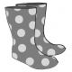 Rain Boots Illustration Template