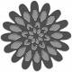 Metal Rimmed Flower Template