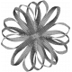 Ribbon Flower Template 002