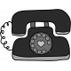 Layered Telephone Doodle Template 01